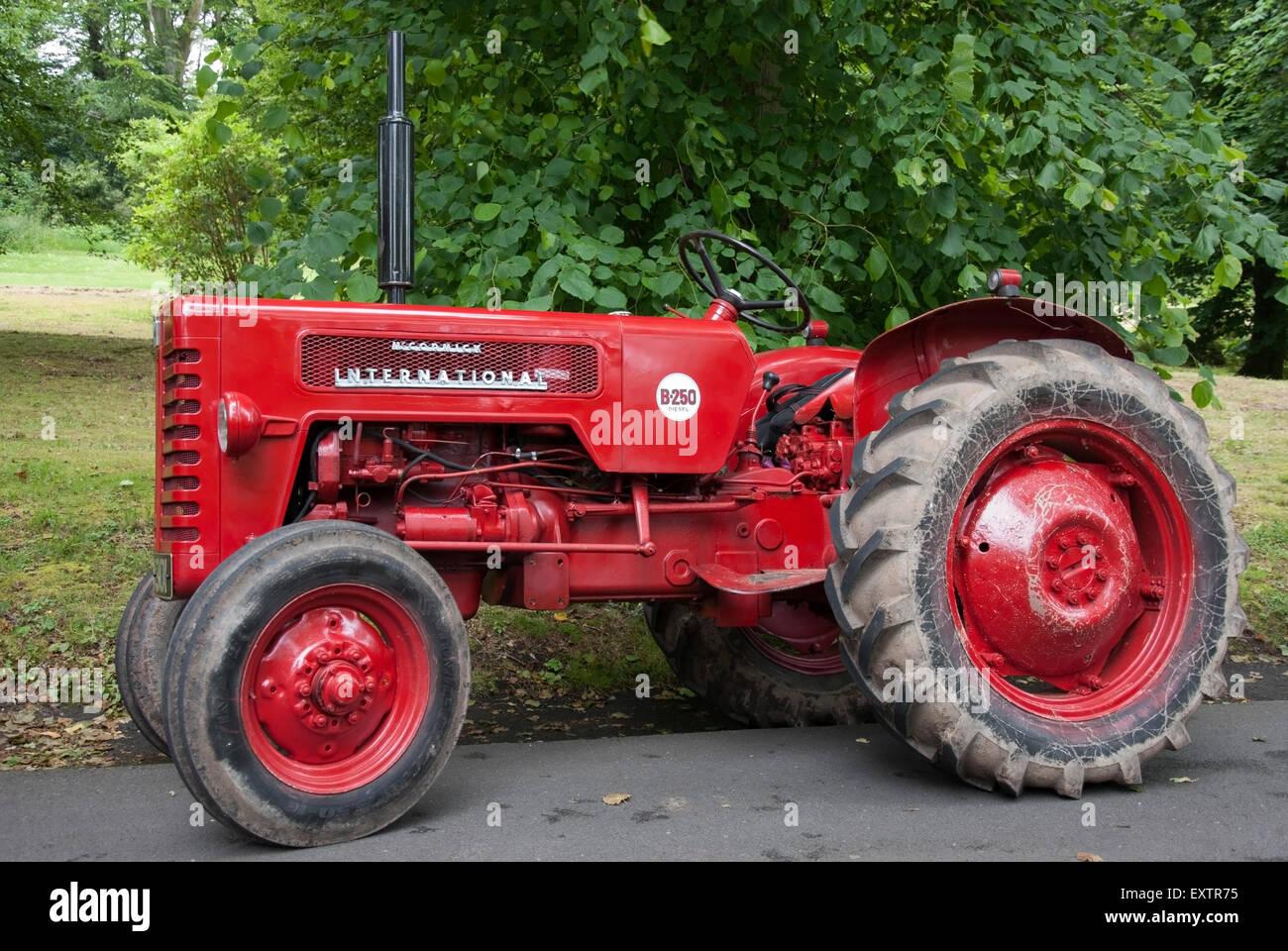 1950's Bright Red McCormick International B 250 Diesel Series Vintage  FarmTractor