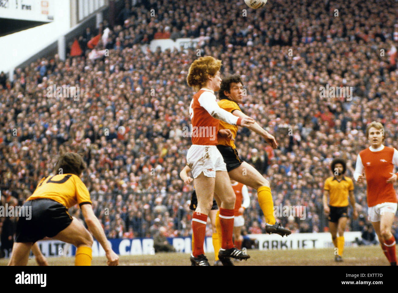Willie Young and Norman Bell footballers footballer FA Cup semi final  Arsenal v Wolverhampton Wanderers 31st March - Stock Image