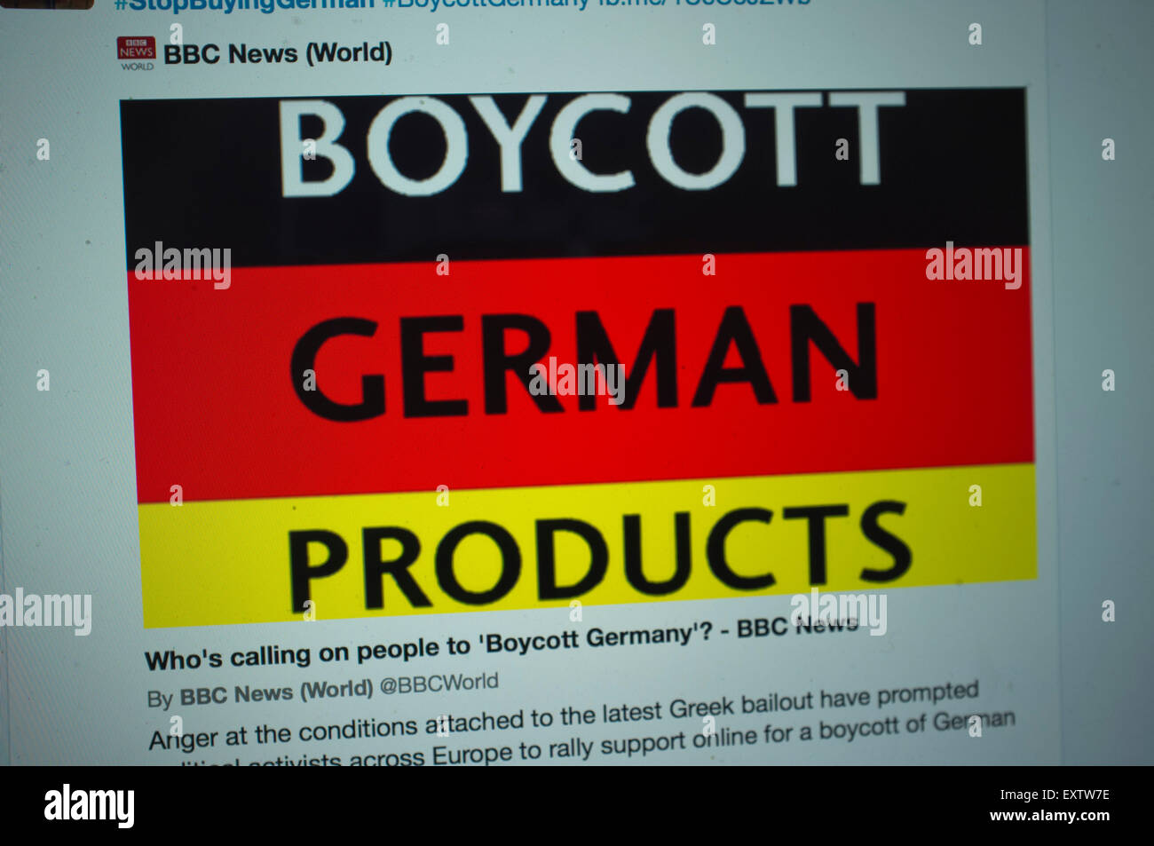 Boycott German Brands Stock Photos & Boycott German Brands