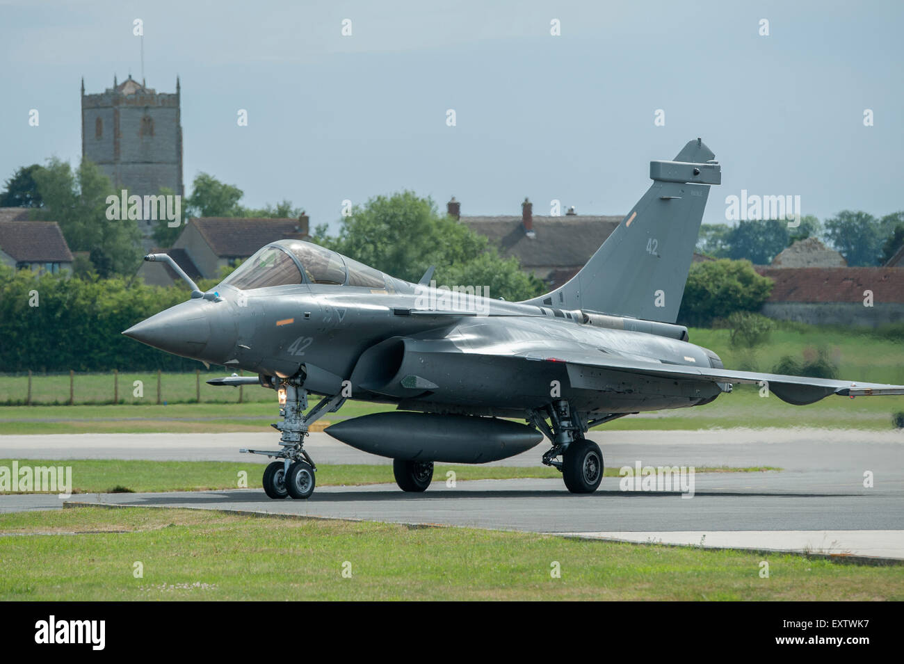 The Dassault Rafale M is a French twin-engine, canard delta wing, multirole fighter aircraft - Stock Image