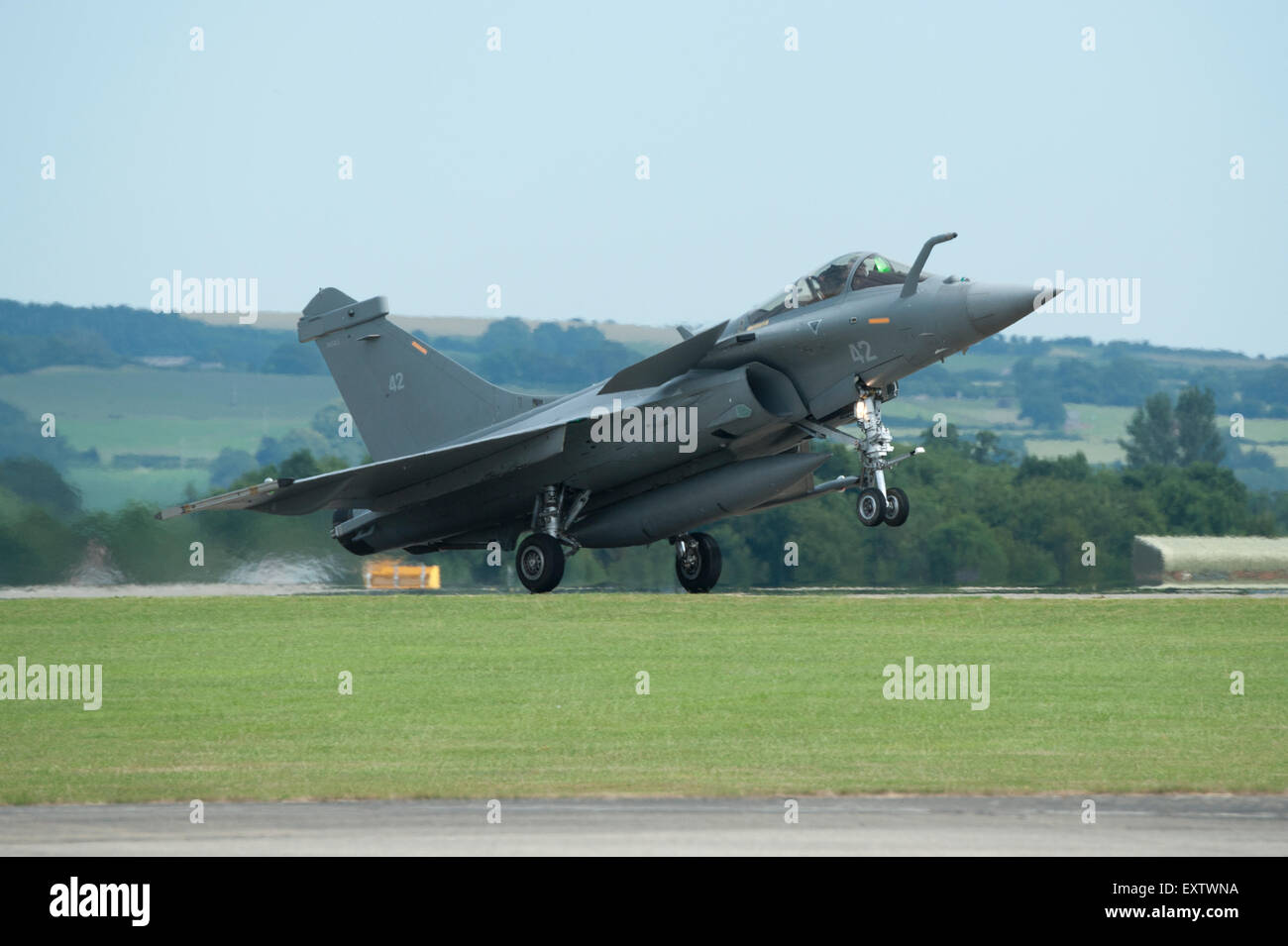 The Dassault Rafale M is a French twin-engine, canard delta wing, multirole fighter aircraft Stock Photo