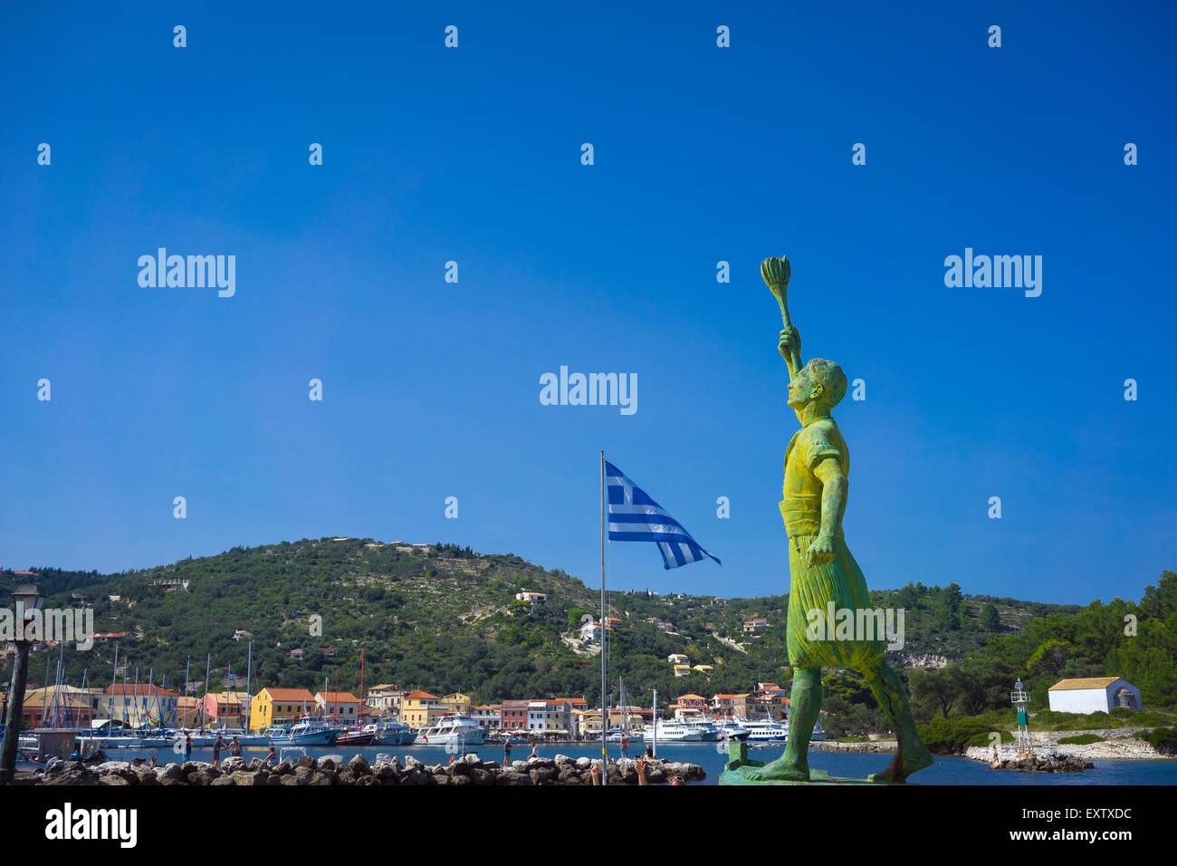 beautiful island of paxos,greece Stock Photo