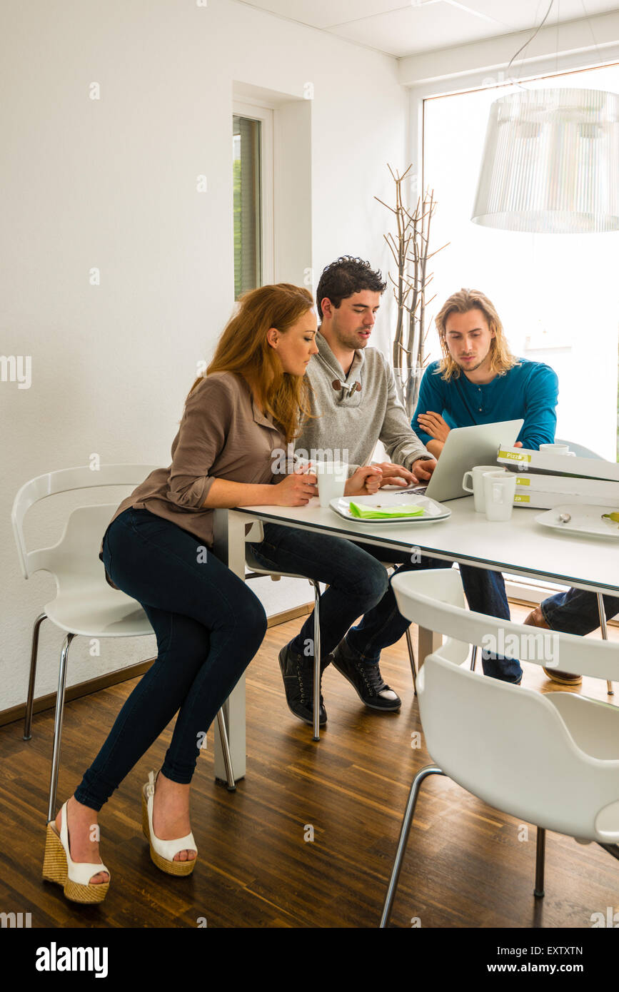 Start-up business team in meeting - Stock Image