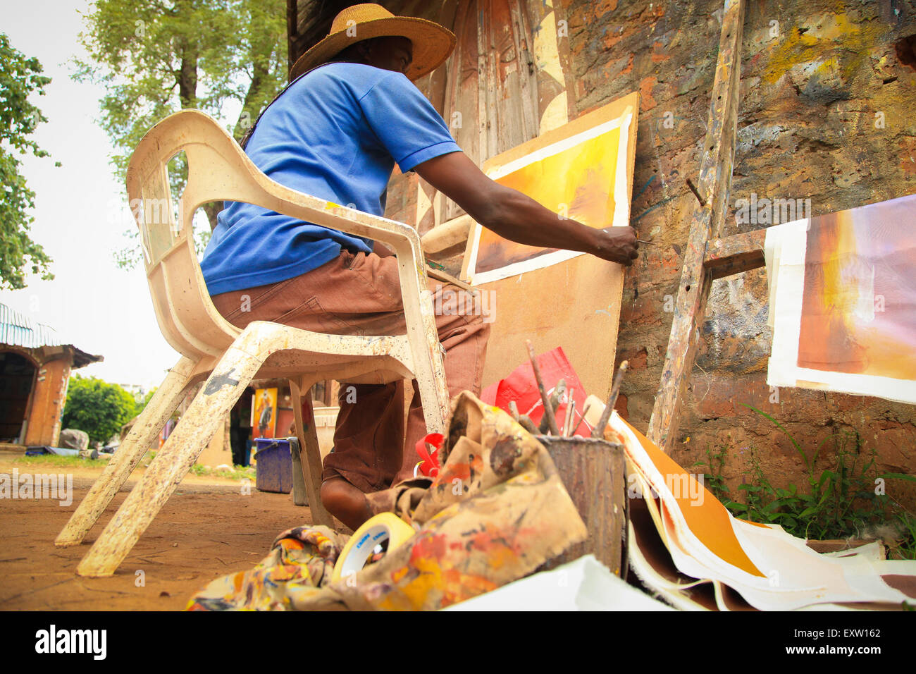 Nigeria artists seek assistance from authorities to promote their artist works stock image
