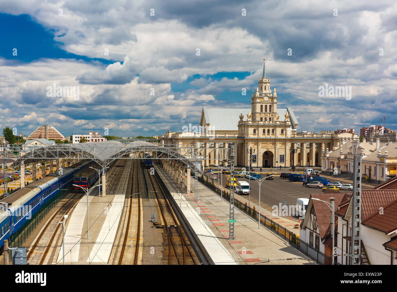 The railway station Brest - Stock Image