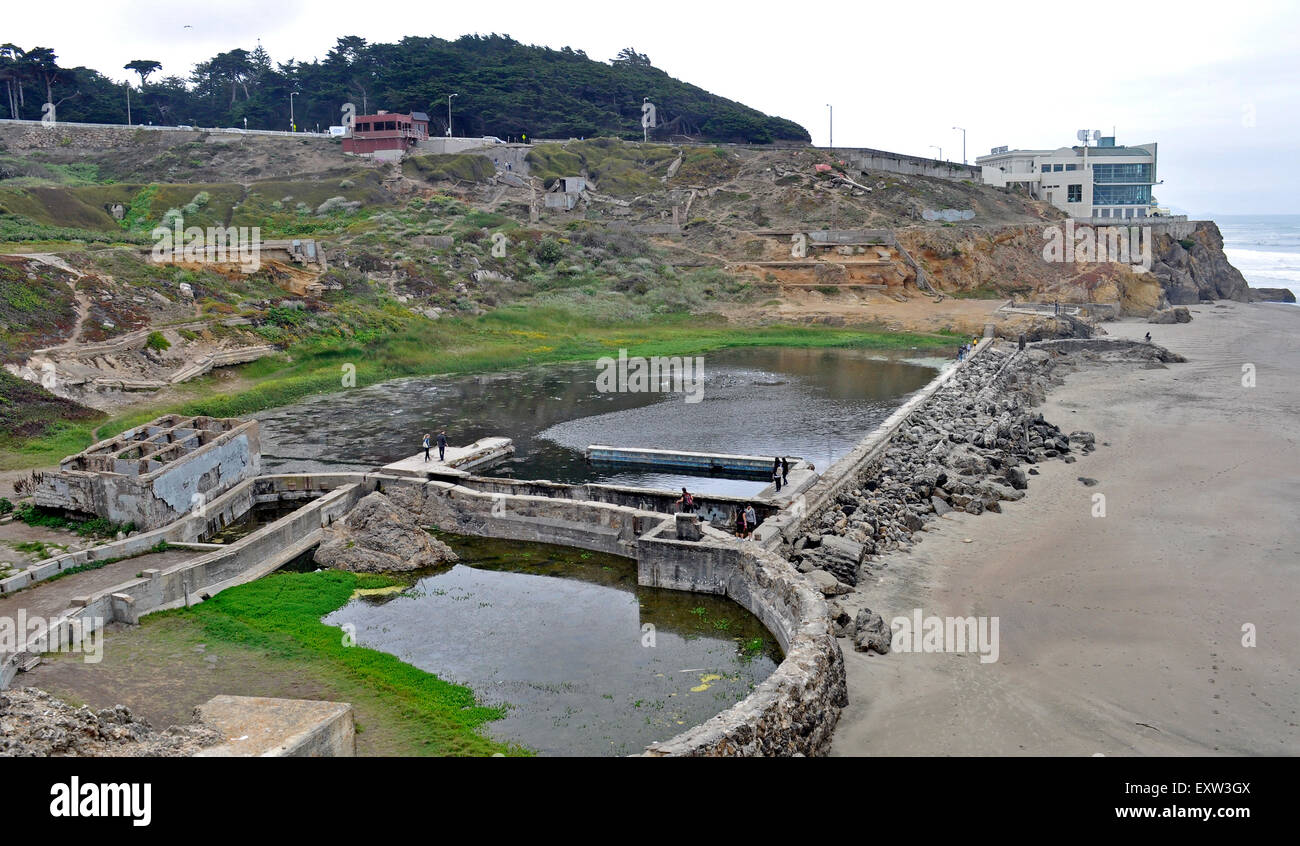 Sutro Baths, San Francisco, California, - Stock Image
