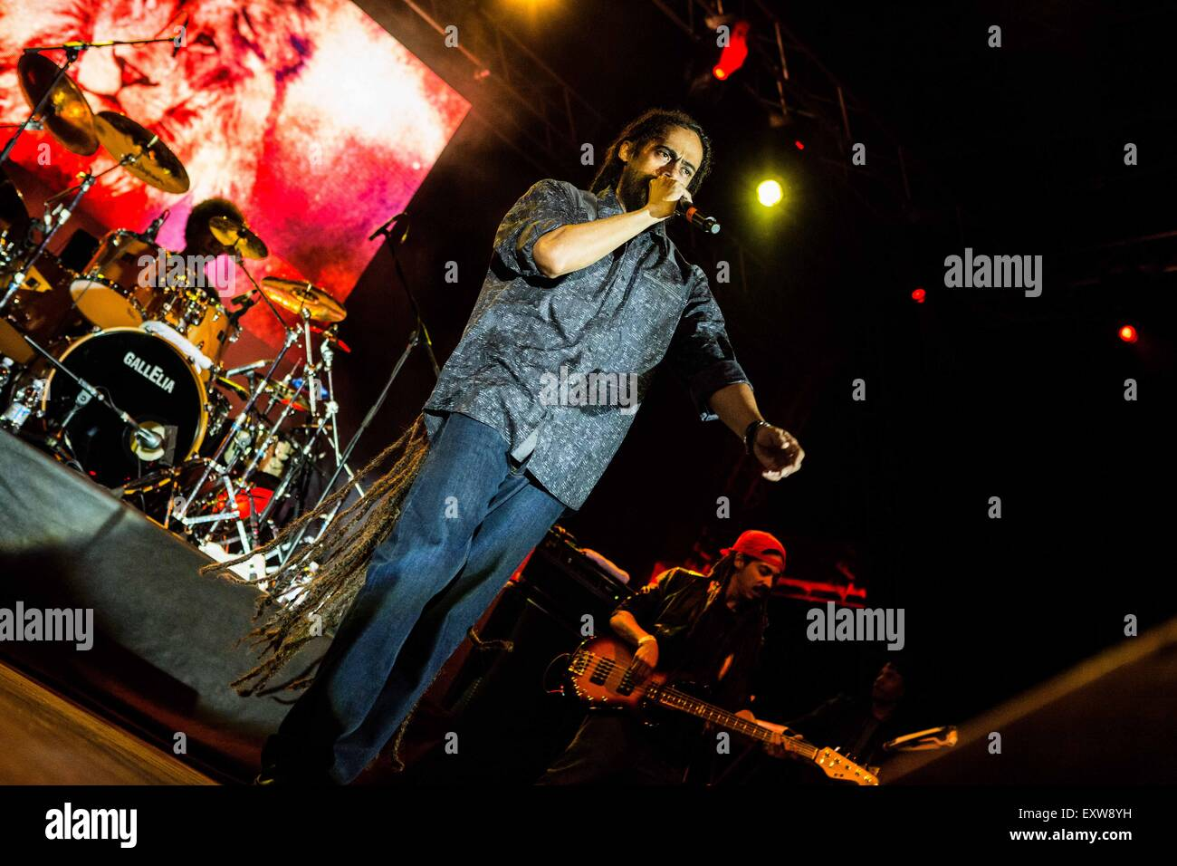 Milan, Italy 30st Juin 2015. Damian Marley performs live at Carroponte © Roberto Finizio/Alamy Live News - Stock Image