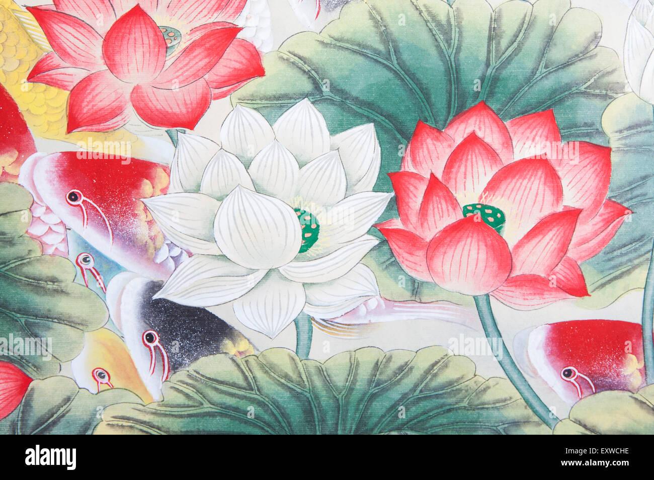Traditional chinese painting koi carp lotus stock photo 85381226 traditional chinese painting koi carp lotus izmirmasajfo