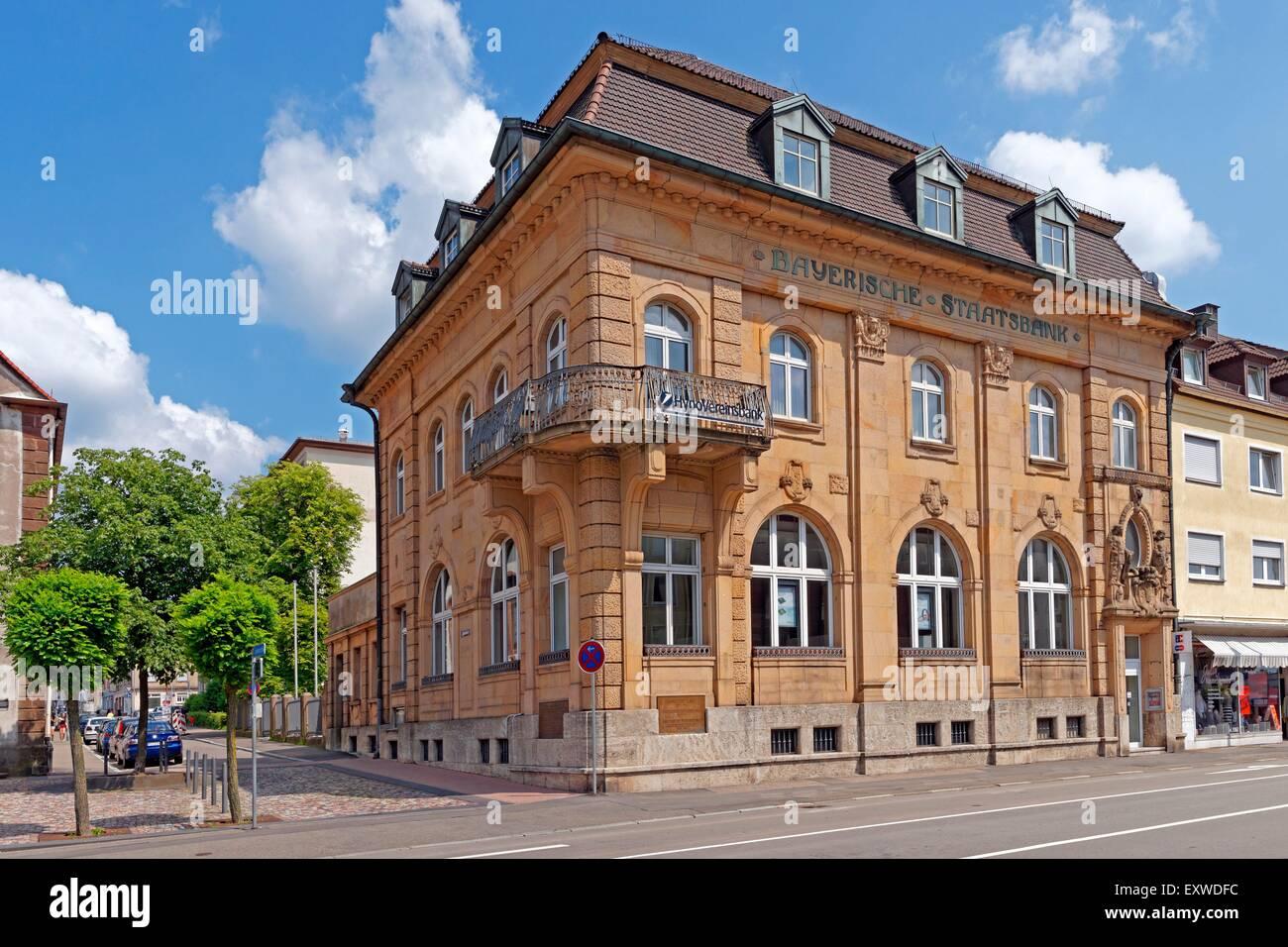 Bayerische Staatsbank in Pirmasens, Rhineland-Palatinate, Germany - Stock Image