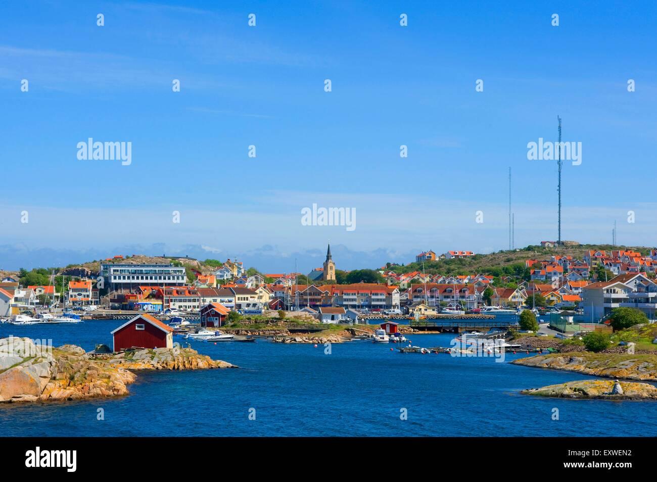 View on Kungshamn, Bohuslaen, Sweden - Stock Image