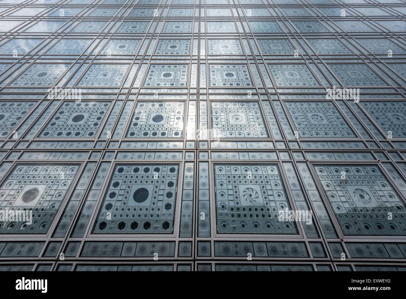 Arab World Institute, Paris, France, Europe - Stock Image