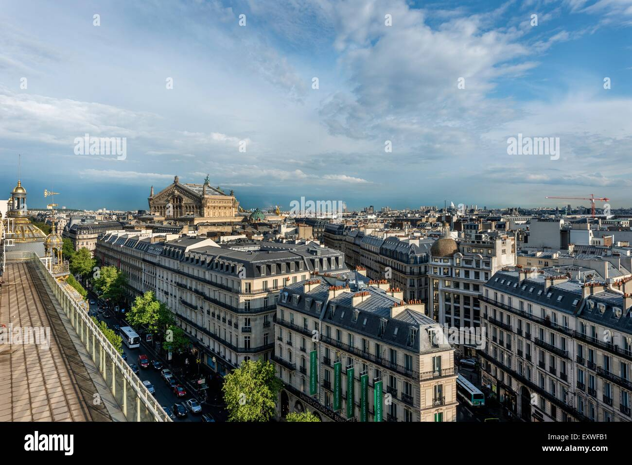 View from the roof top terrace of Printemps, Paris, France, Europe Stock Photo