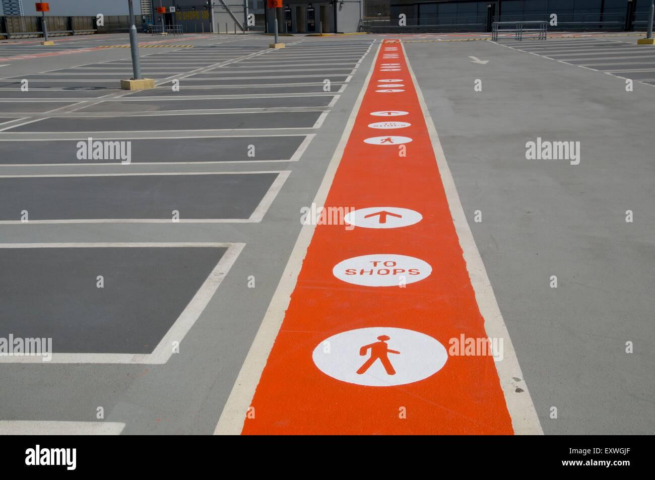 Multistorey parking at Stratford Center shopping mall, London, UK - Stock Image