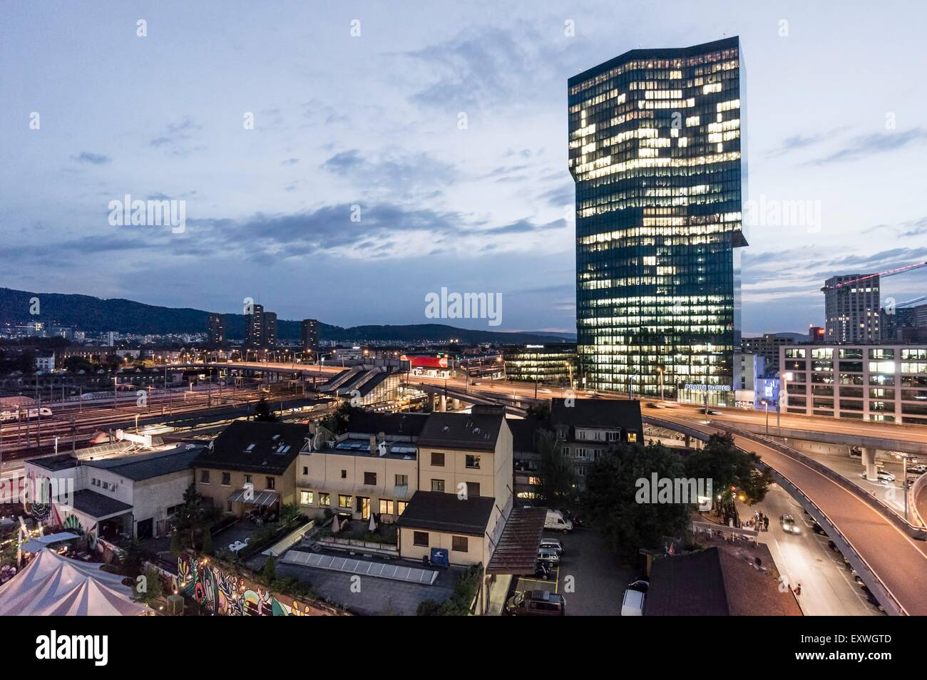 Prime tower, Zurich, Switzerland, Europe - Stock Image