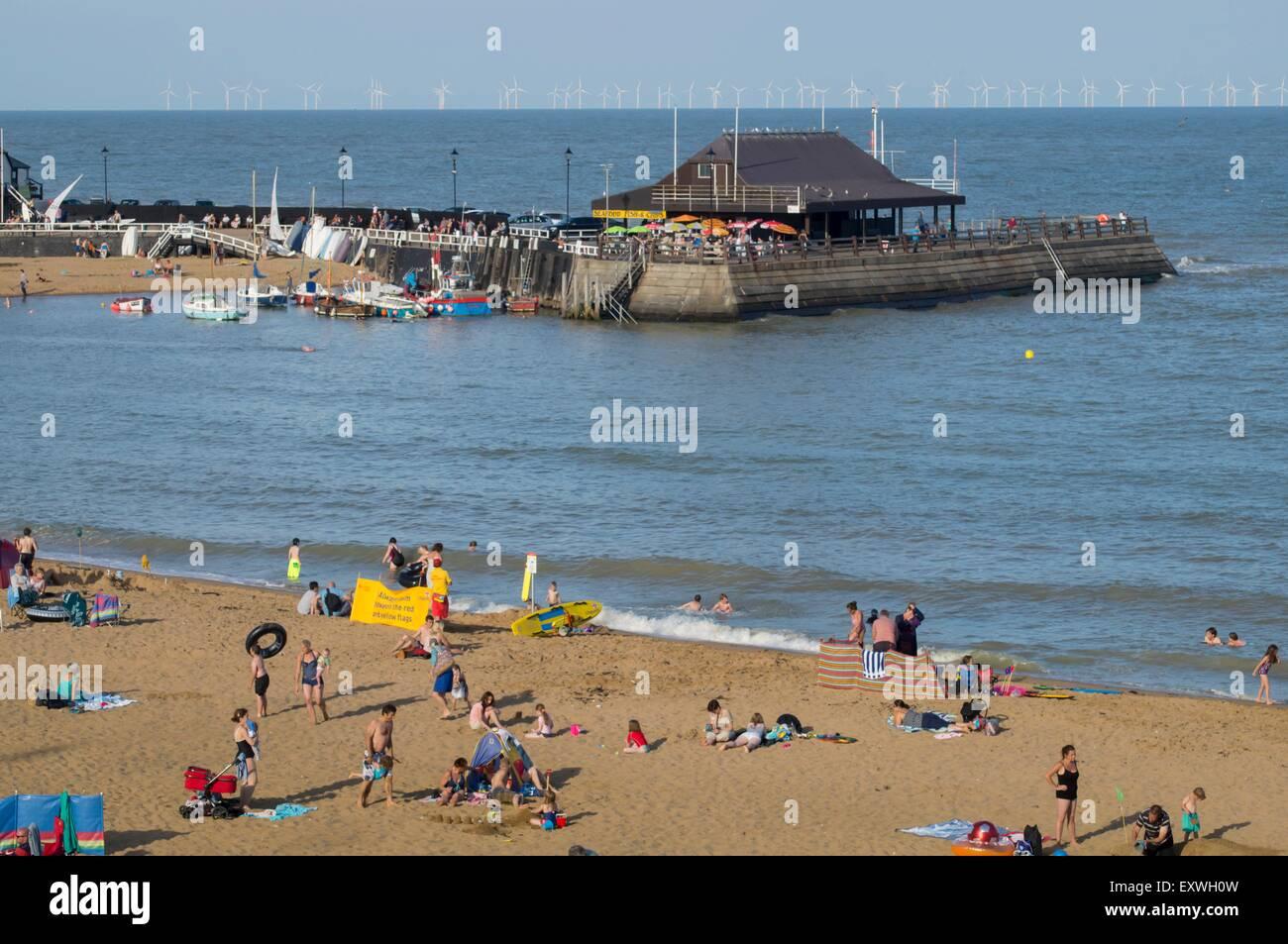 Viking Bay, Broadstairs, Kent, England, Great Britain, Europe - Stock Image