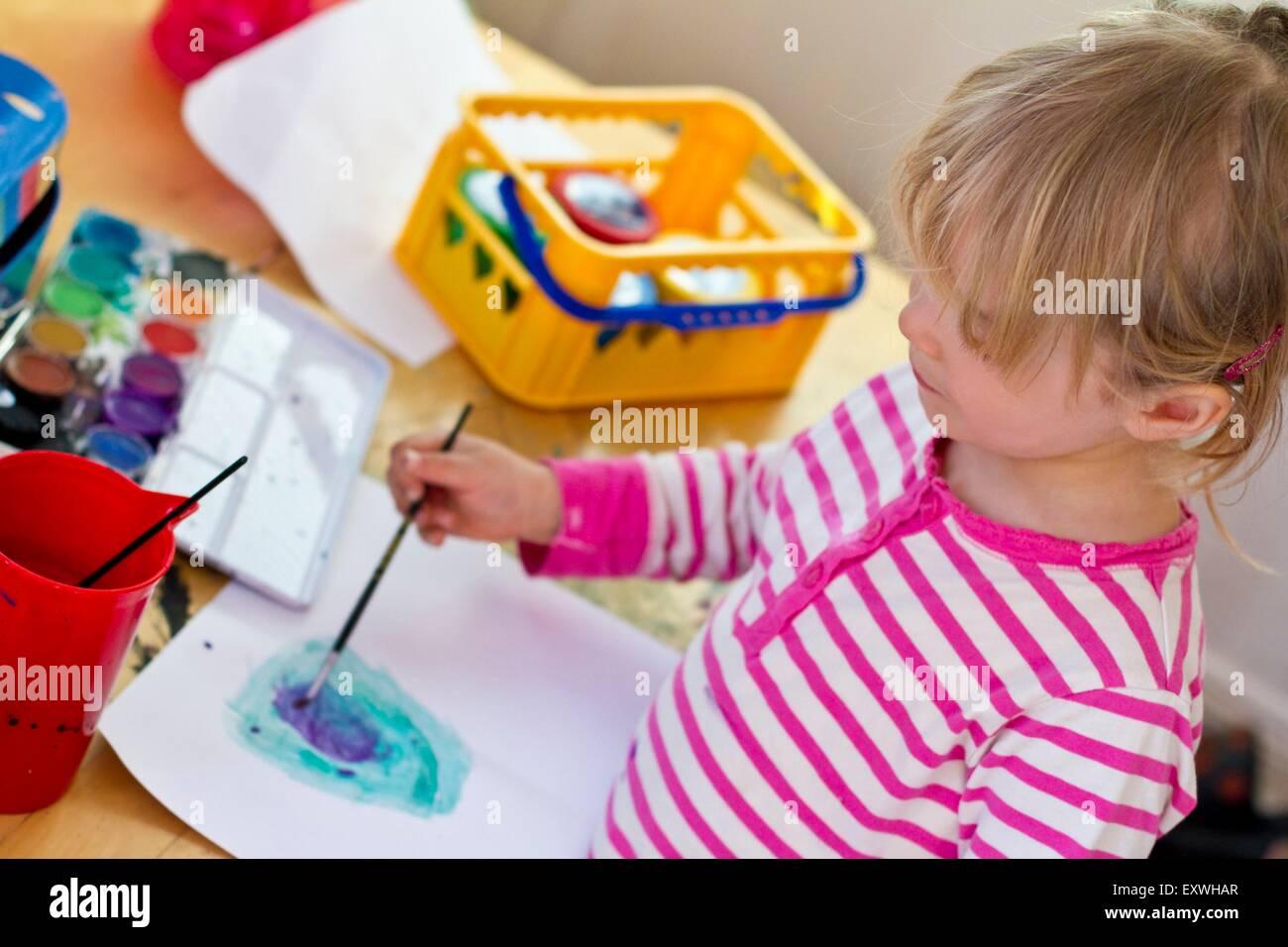 Childrens Paint Brushes Children Painting Stock Photos & Childrens ...