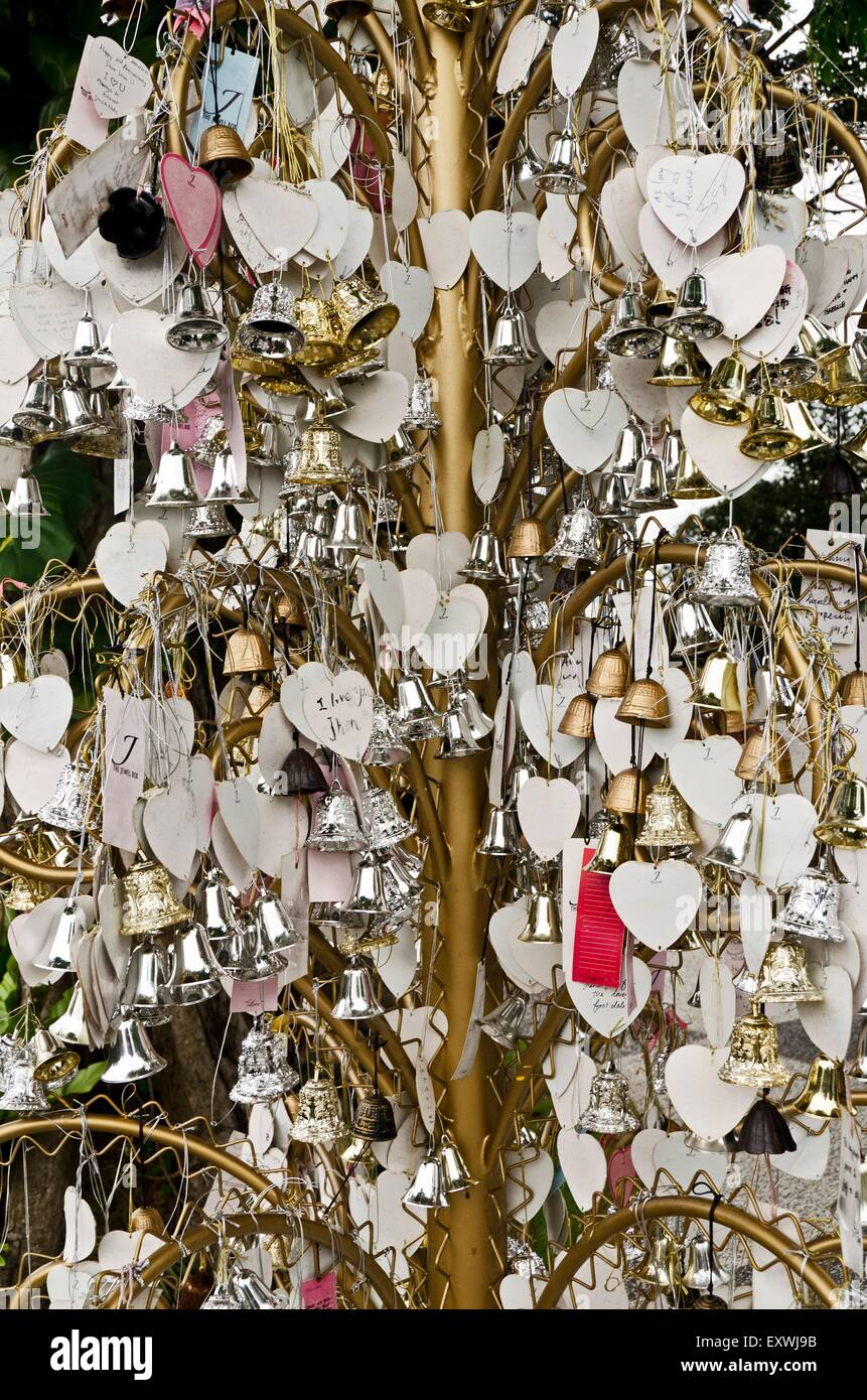 locks of love, Singapur, Asia - Stock Image