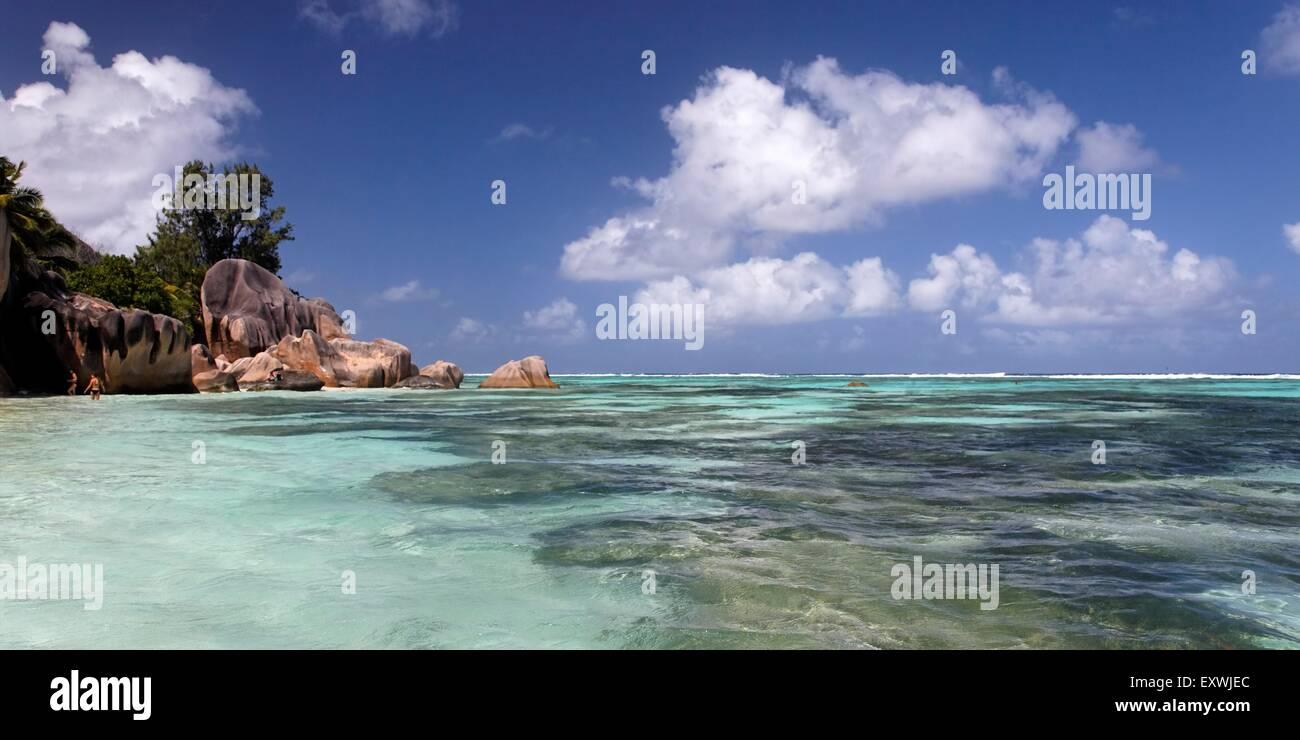 Anse Source D'Argent  La Digue, Seychelles - Stock Image