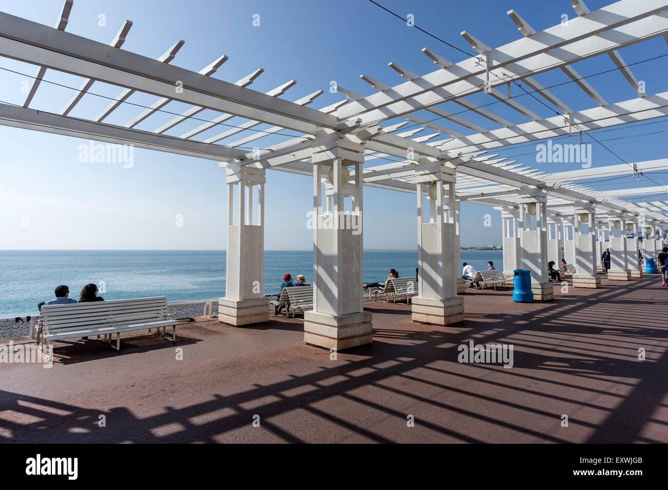 Promenade des Anglais, Nice, France - Stock Image