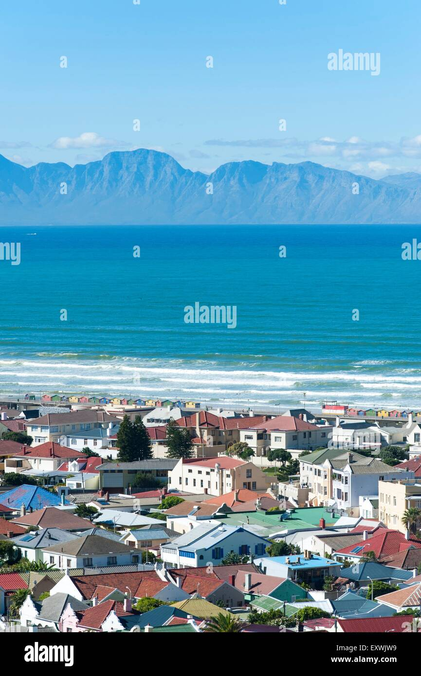 Muizenberg and False Bay, Cape Town, South Africa - Stock Image