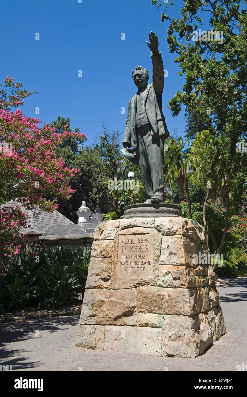 Cecil Rhodes monument in the Company's Garden, Cape Town, South Africa - Stock Image