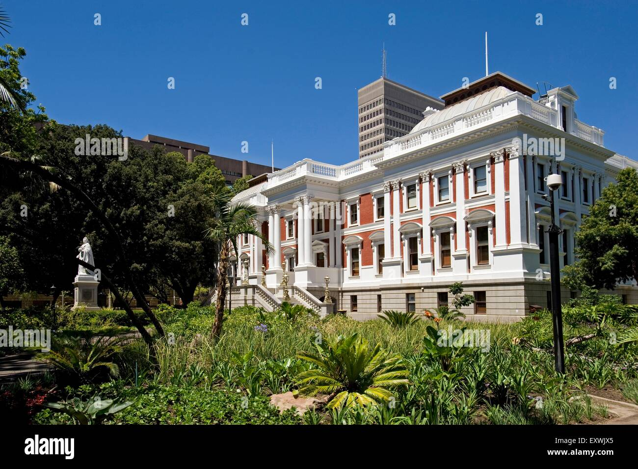 The Company's Garden Parliament building, Cape Town, South Africa - Stock Image