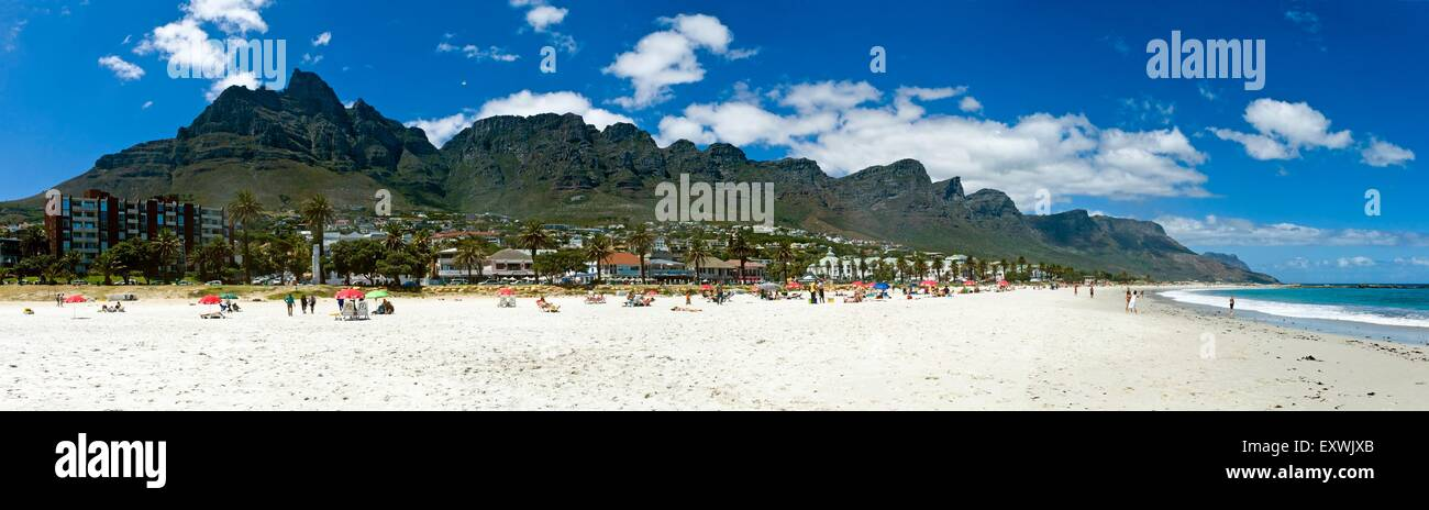 Table Mountain, Twelve Apostles and Camps Bay, Cape Town, South Africa Stock Photo