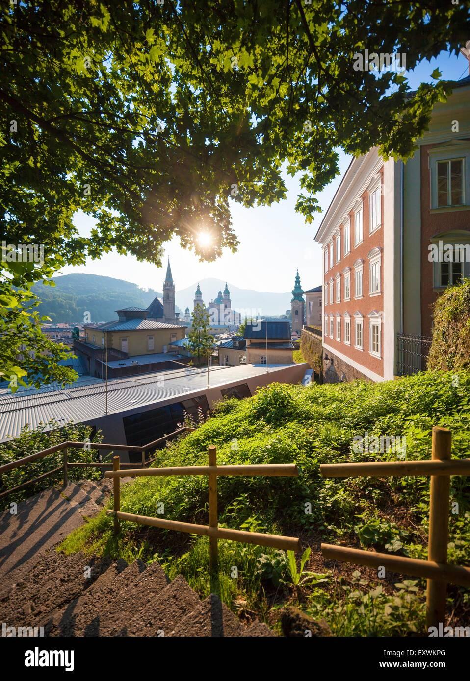 View from Stefan Zweig Center to Felsenreitschule, Salzburg, Austria - Stock Image