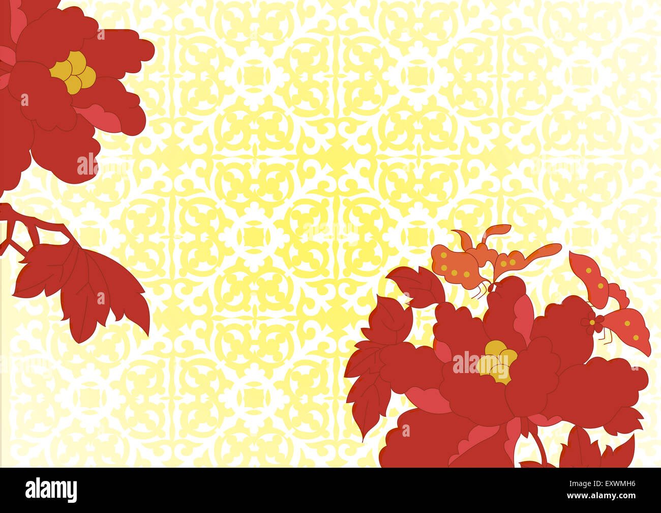 Auspicious Patterns Chinese Style Floral Pattern Stock Photo
