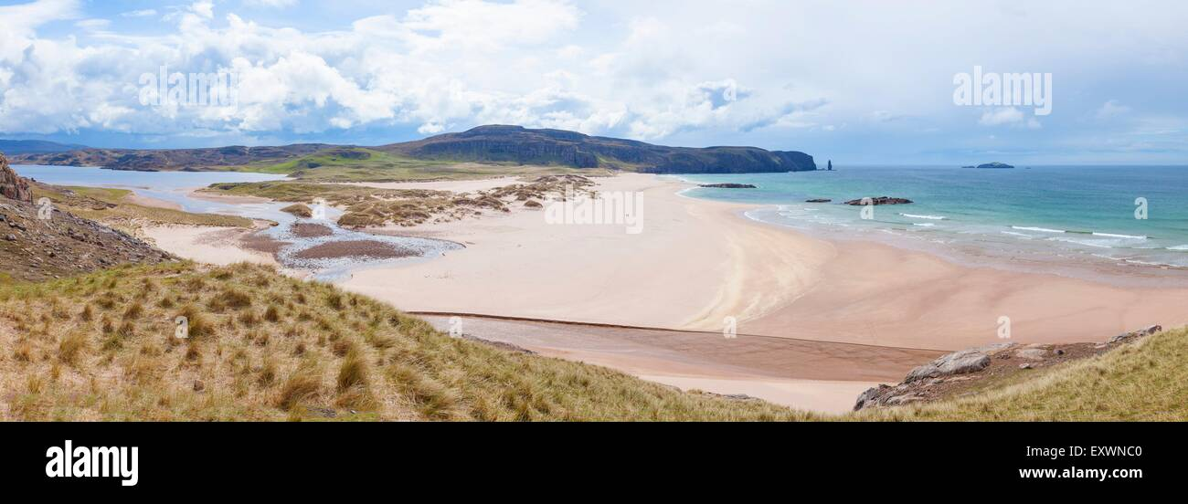 Loch Sandwood and Sandwood Bay, Scotland, Great Britain, Europe - Stock Image
