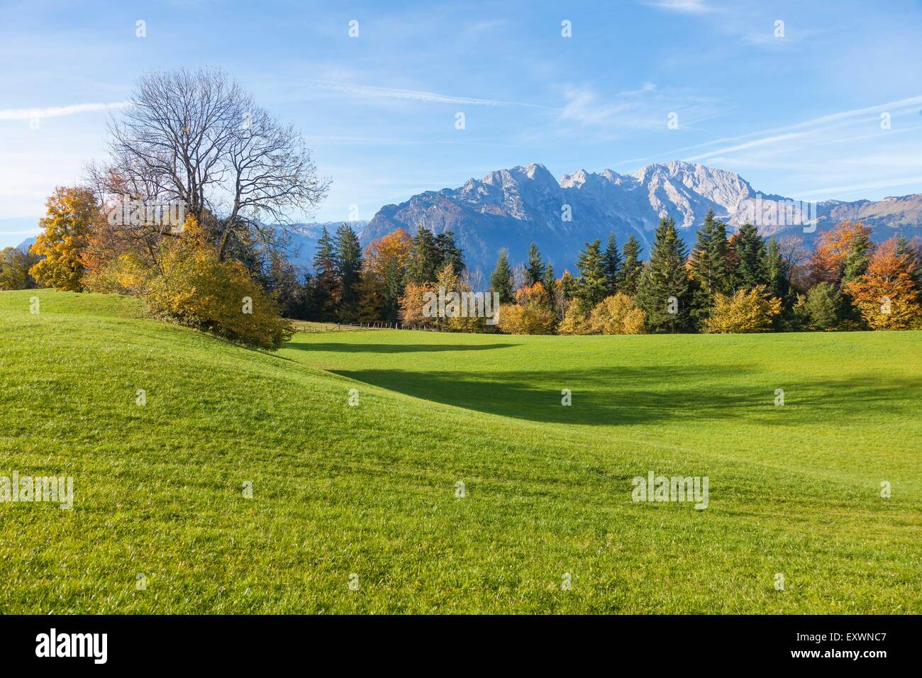 Salzachtal and Hoher Goell, Berchtesgaden Alps, Austria, Europe Stock Photo