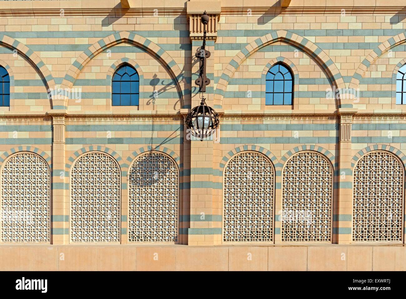 Front of the Sharjah Museum, Dubai - Stock Image
