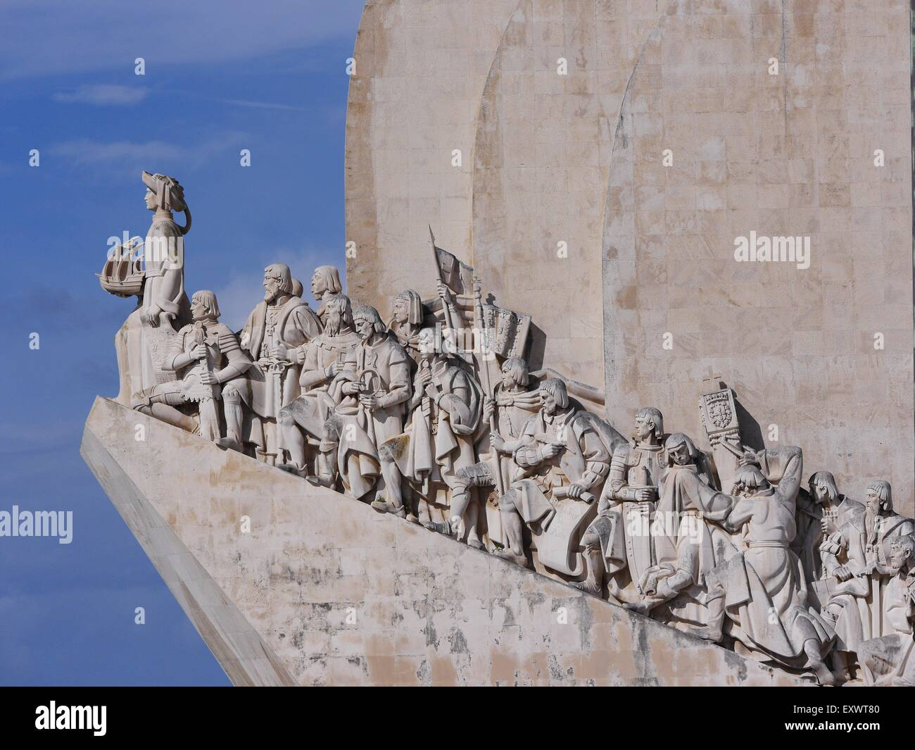 Monument of the Discoveries, Belem, Lisbon, Portugal, Europe - Stock Image