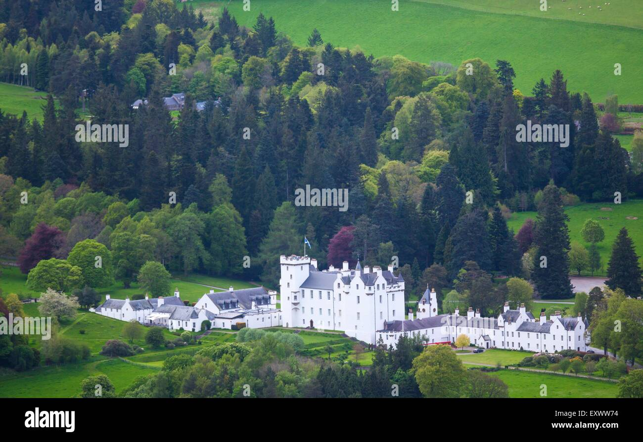 Blair Castle in Blair Atholl, Perthshire, Scotland, UK - Stock Image