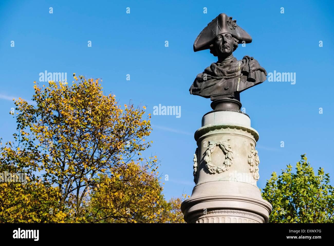 Monument Friedrich des Grossen, Volkspark, Friedrichshain, Berlin, Germany, Europe - Stock Image