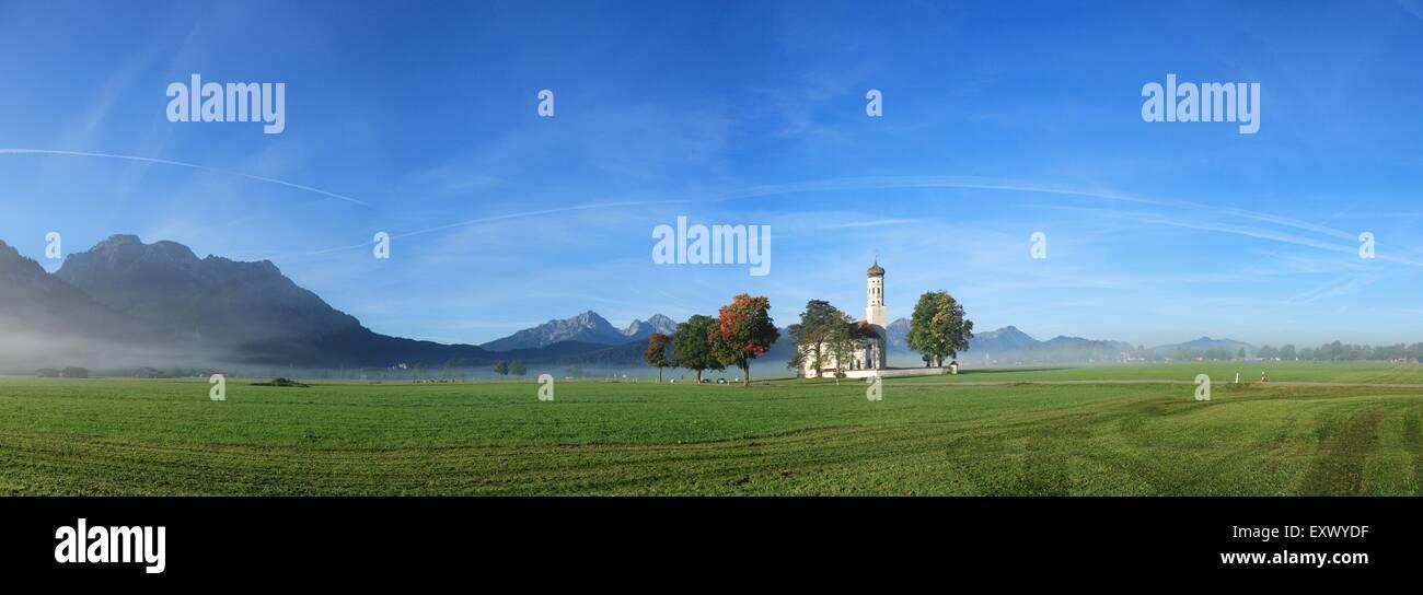 St. Coloman, Schwangau, Allgaeu, Bavaria, Germany, Europe - Stock Image