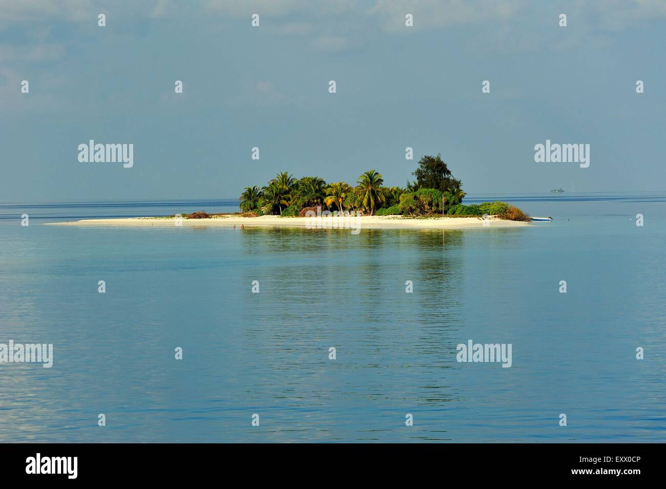 Island in indian ocean, The Maledives - Stock Image