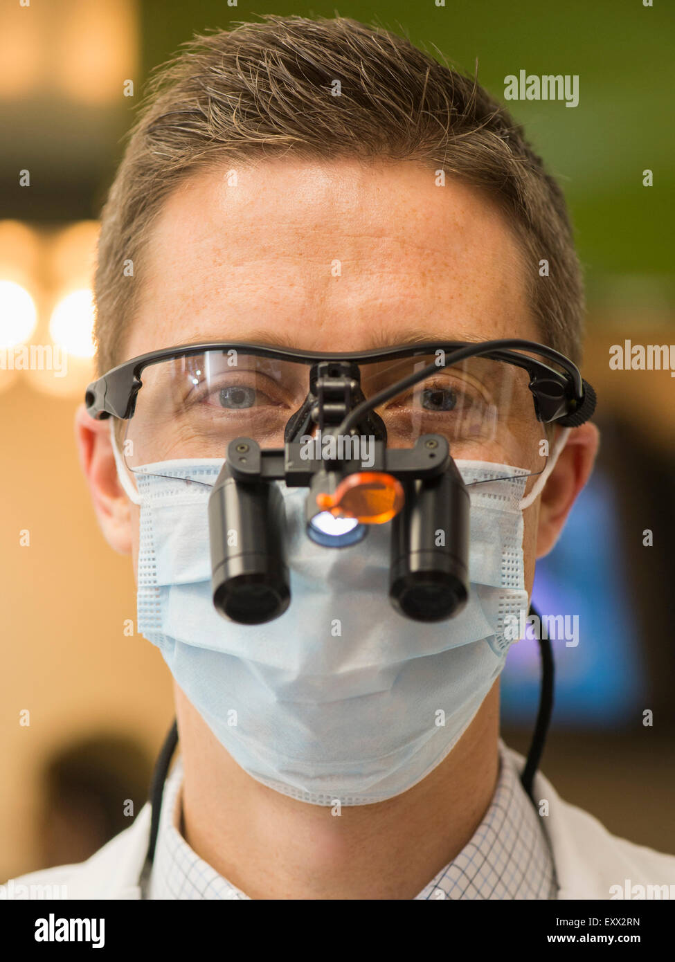Portrait of dentist - Stock Image