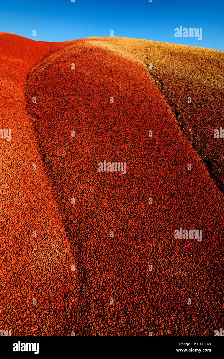 Painted Hills on sunny day - Stock Image