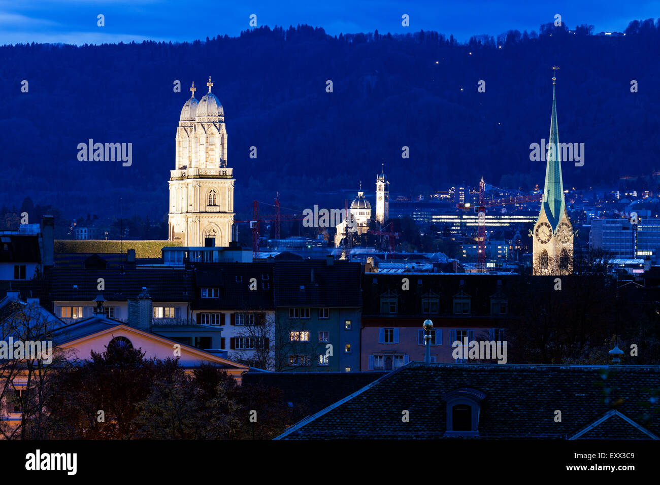 Churches of Zurich Stock Photo