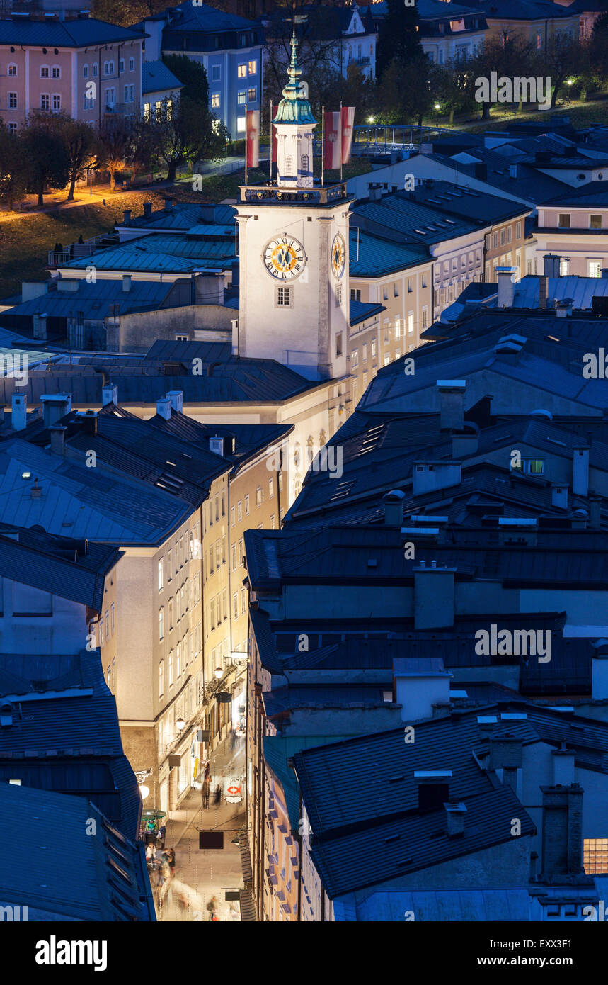 Town hall at night - Stock Image