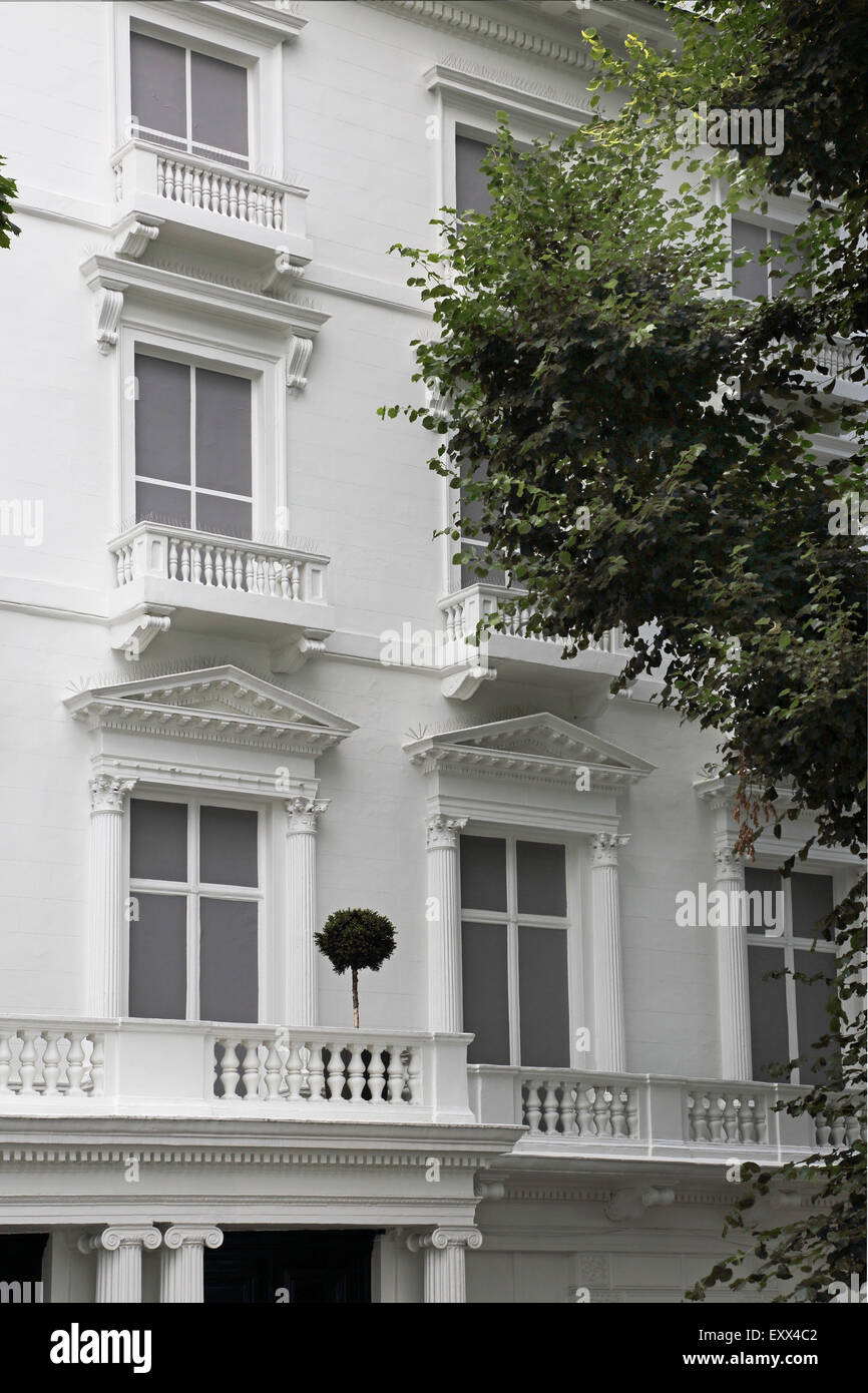 House nos 23 and 24 Leinster Gardens, London are fake facades which hide the Underground railway beneath. See also - Stock Image
