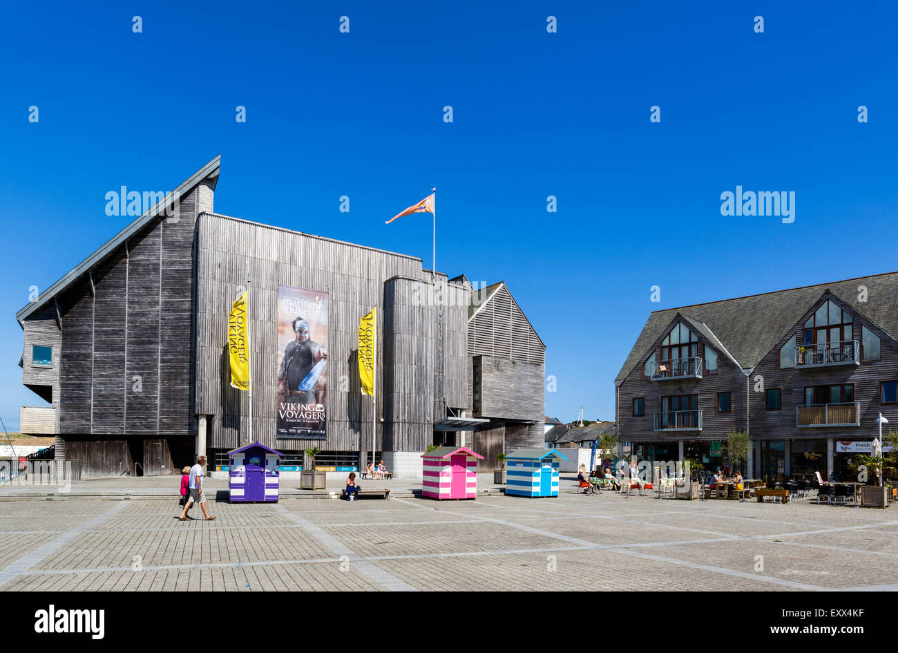 National Maritime Museum, Discovery Quay, Falmouth, Cornwall, England, UK - Stock Image