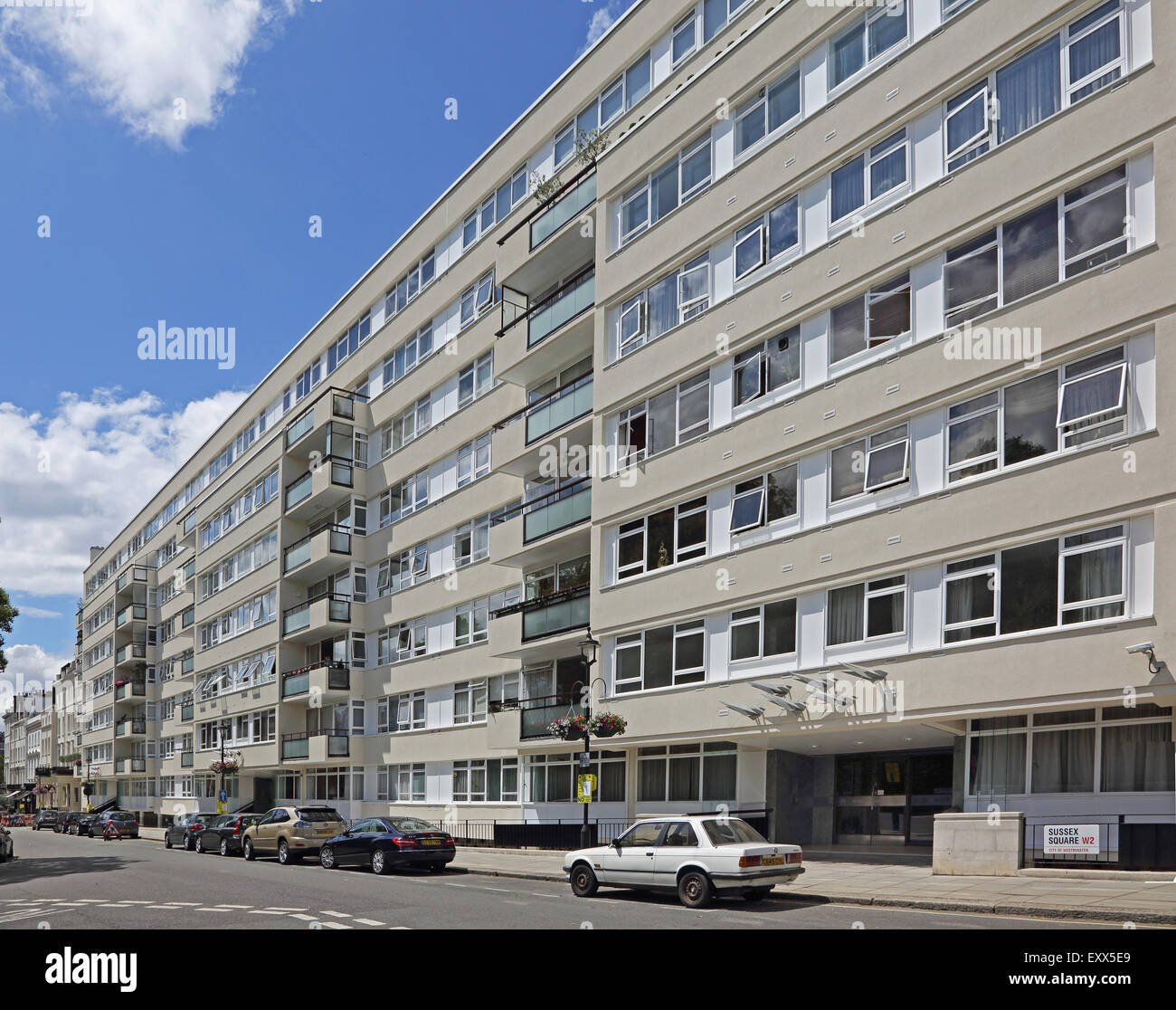 Apartment Block: A 1970's Built Apartment Block In Central London Following