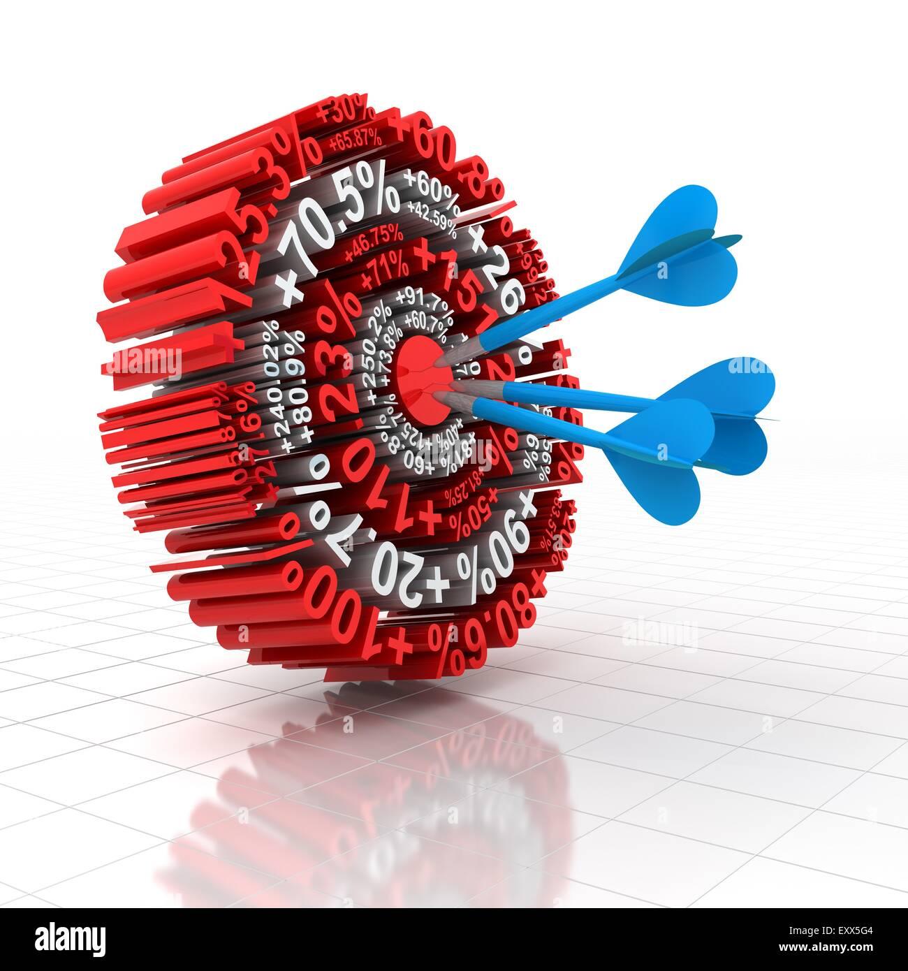 Financial target - Stock Image