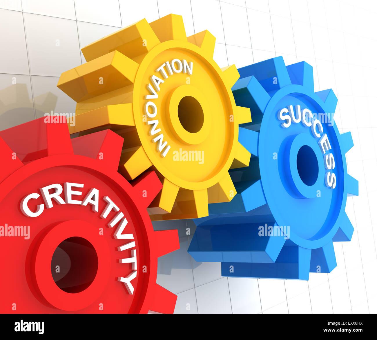 Creativity, innovation and success - Stock Image