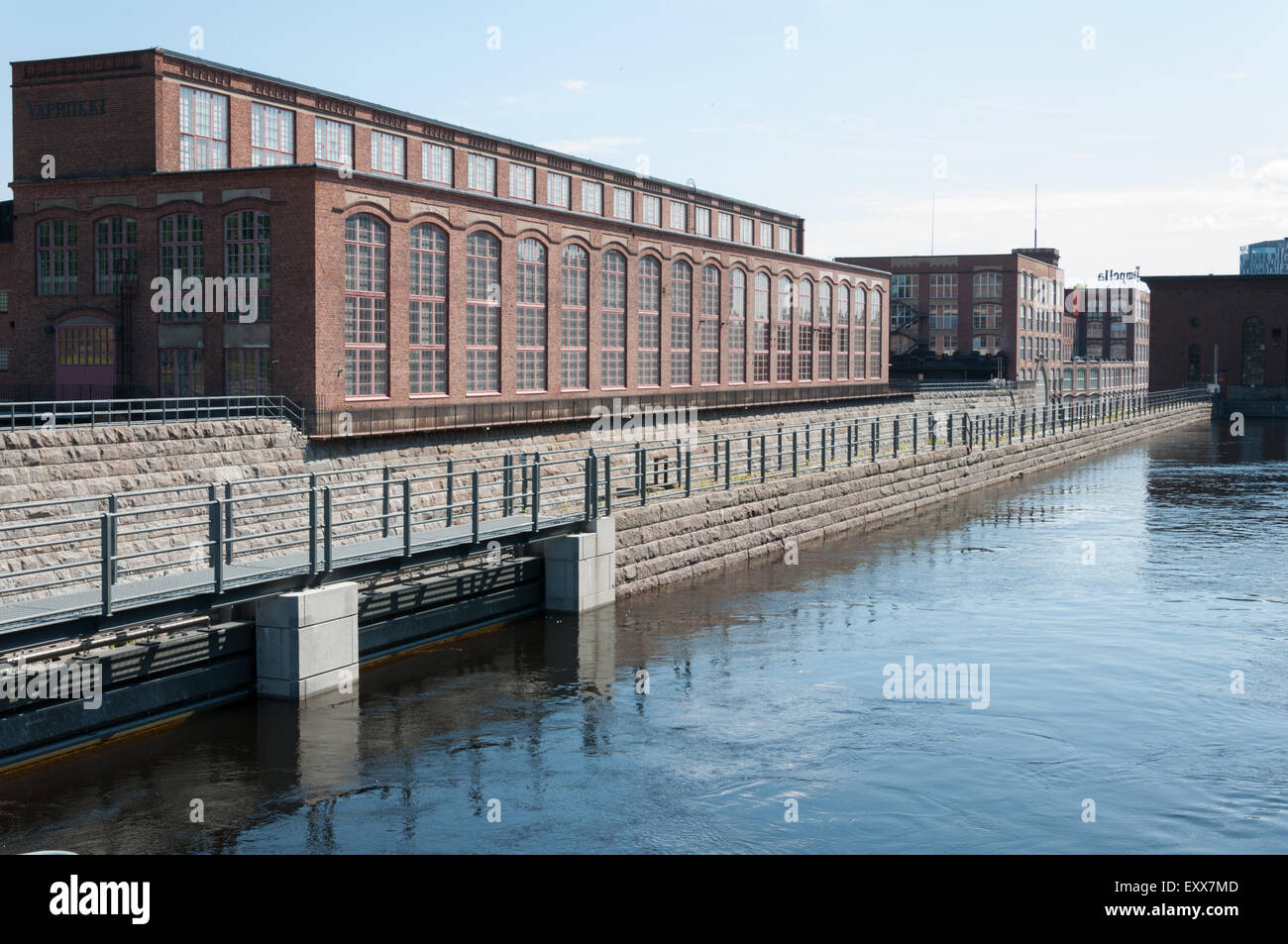 A part of the old cotton mills in Tampere Finland - Stock Image