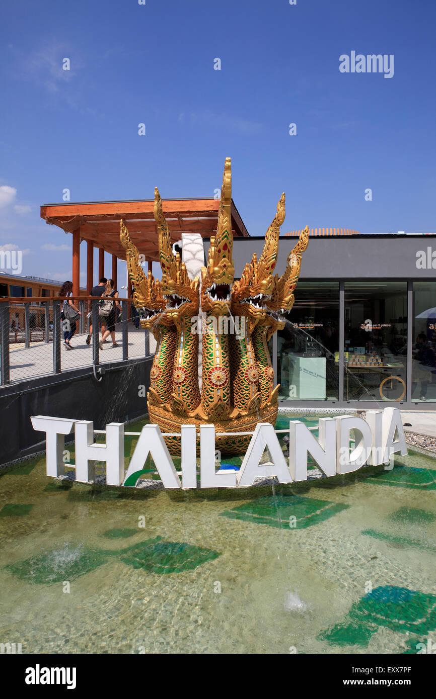 Thailandia Pavilion at Milan Expo 2015, Italy Stock Photo