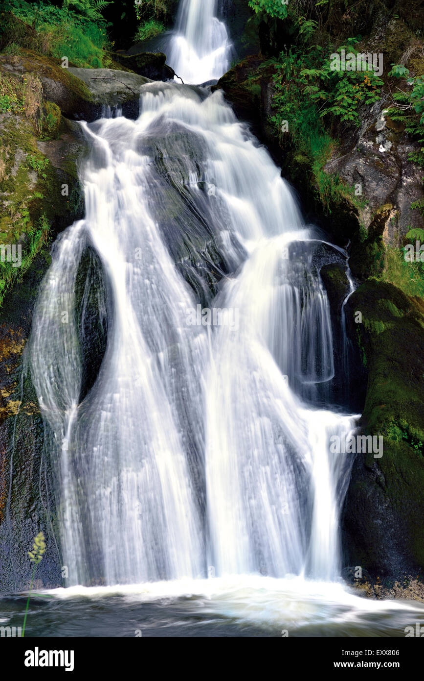 Germany, Black Forest: Cascade of the Triberg Waterfall - Stock Image