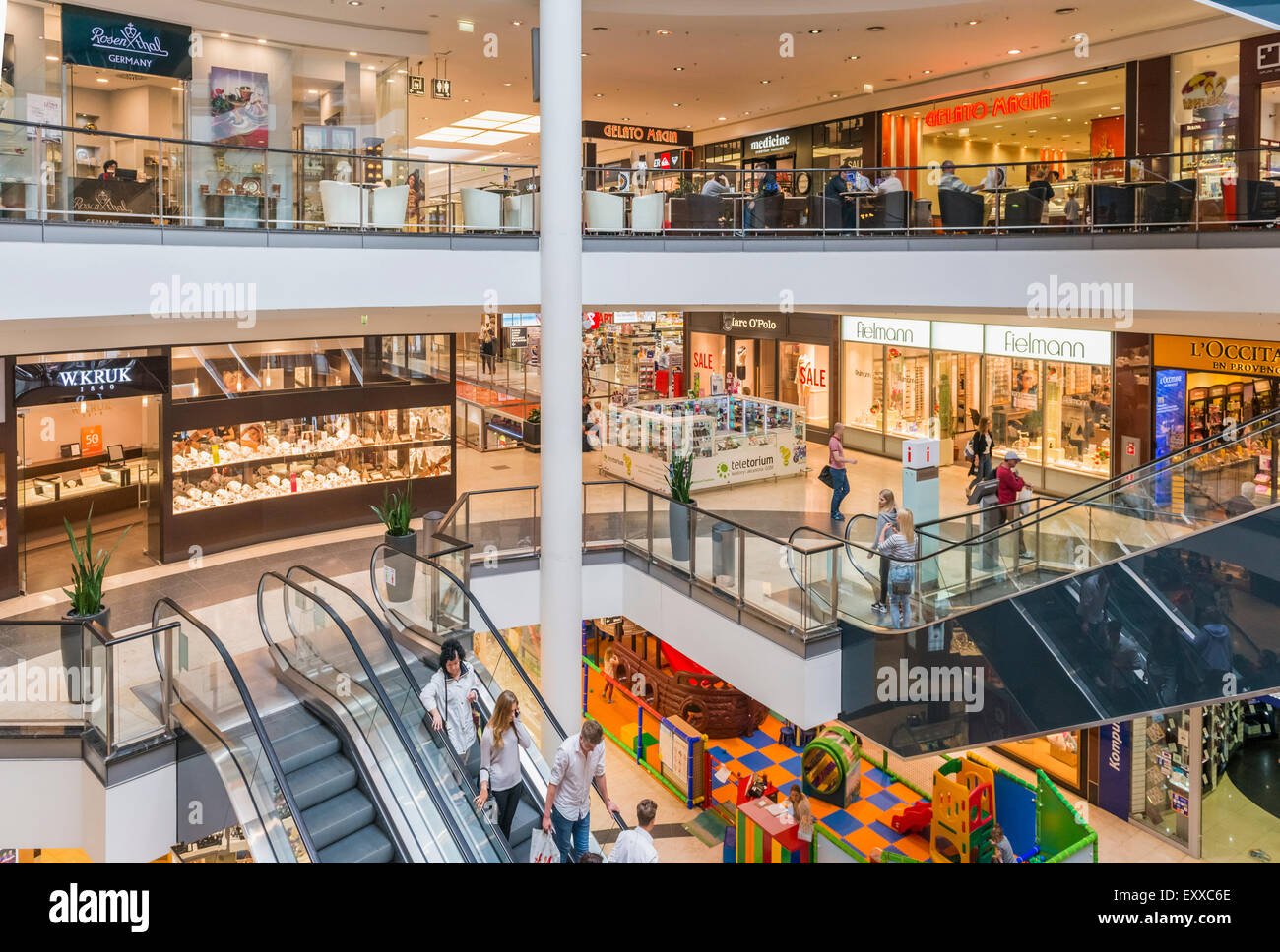 Galeria Baltycka, Gdansk's largest shopping mall, Gdansk, Poland, Europe. - Stock Image